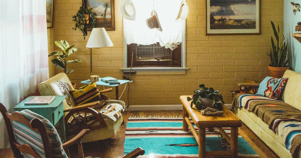 Southwestern interior design living room